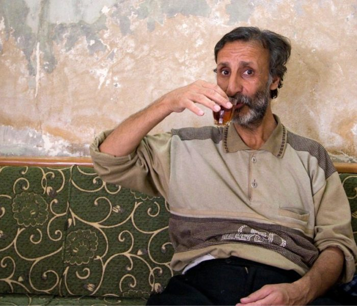 Drinking tea in Aleppo, Syria; image by James Gordon