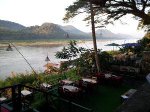 Restaurant overlooking the Mekong River