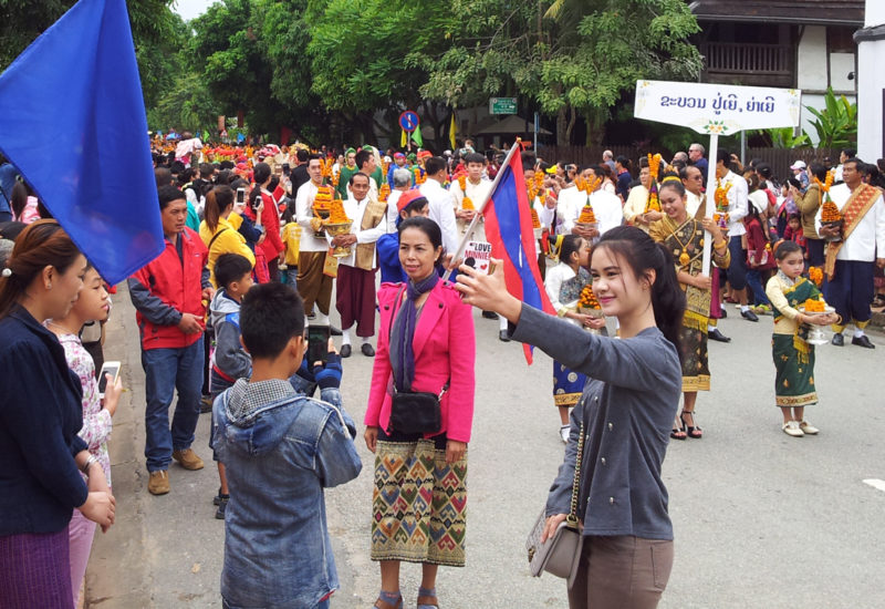 It's selfie time in Laos