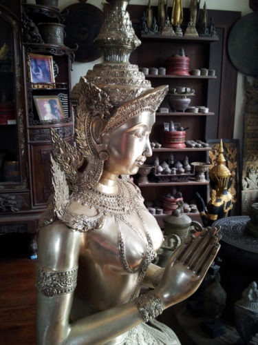 Statue in antique shop
