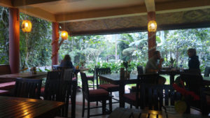 The restaurant at Our Jungle House
