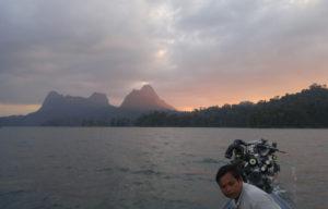 Sunset on Cheow Lan Lake