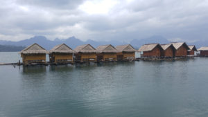 Floating huts on Cheow Lan Lake