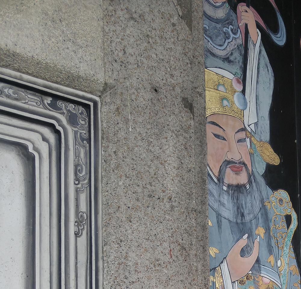 Temple painting detail, Penang