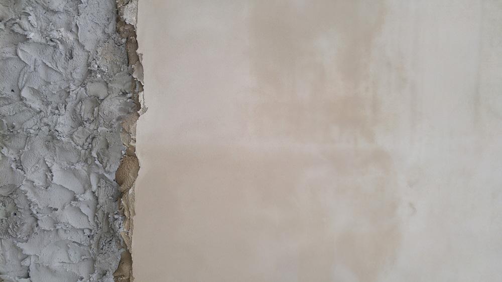 Freshly plastered wall