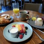 Breakfast at the Inn of the Anasazi, Santa Fe, NM
