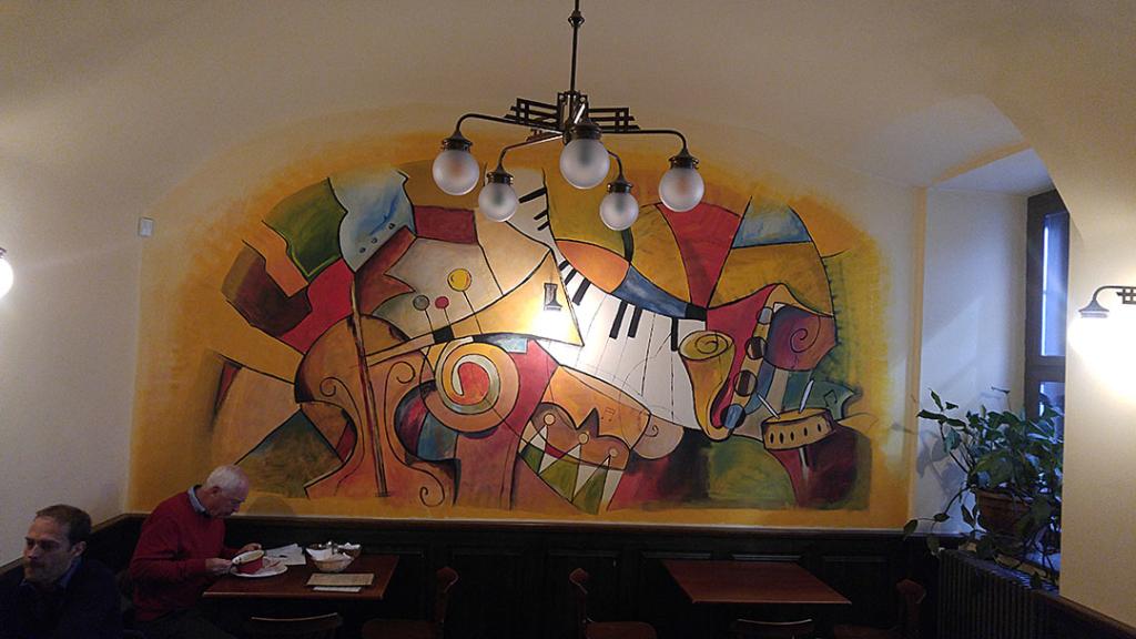 Kosher sausage restaurant wall art