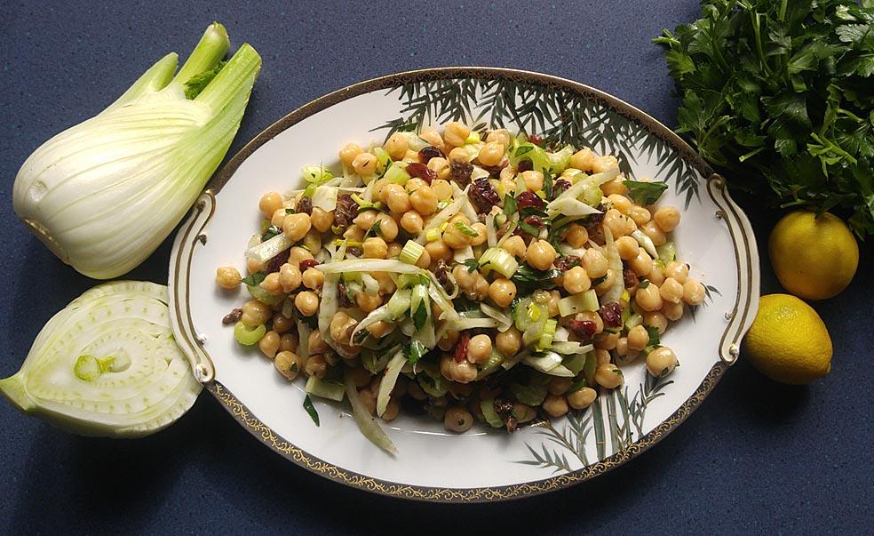 Garbanzo, Celery & Fennel Salad