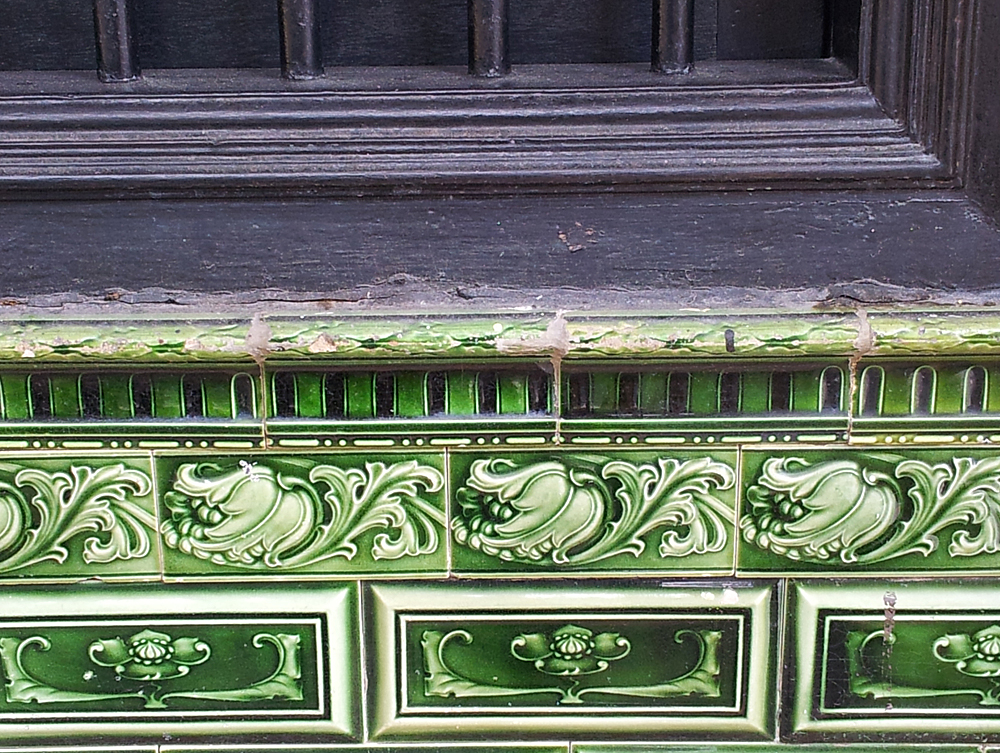 Old window frame and tiles, Penang