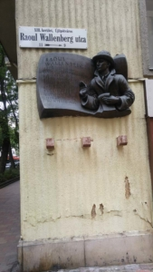 Plaque on Wallenberg Street
