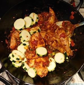 zucchini added to karhai chicken