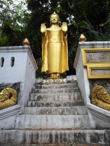 Buddha atop the stairs