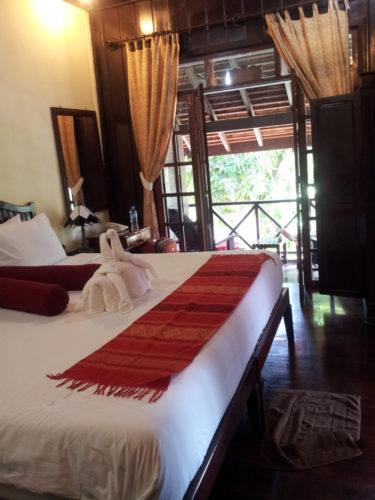 Our room at Villa Ban Lakkham