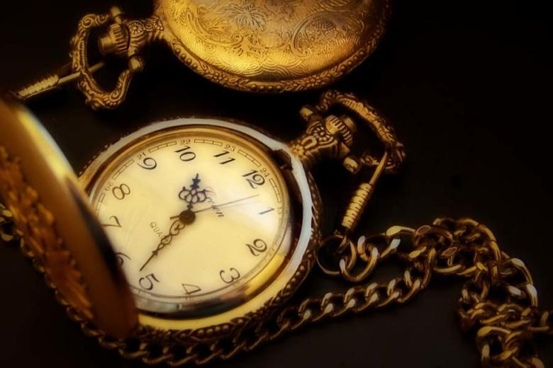 a gold pocket watch